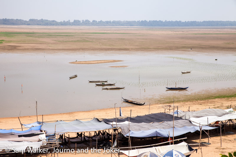 low water levels at West Baray, Siem Reap