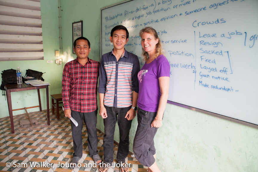 Volunteering in Sothy's conversational English classes
