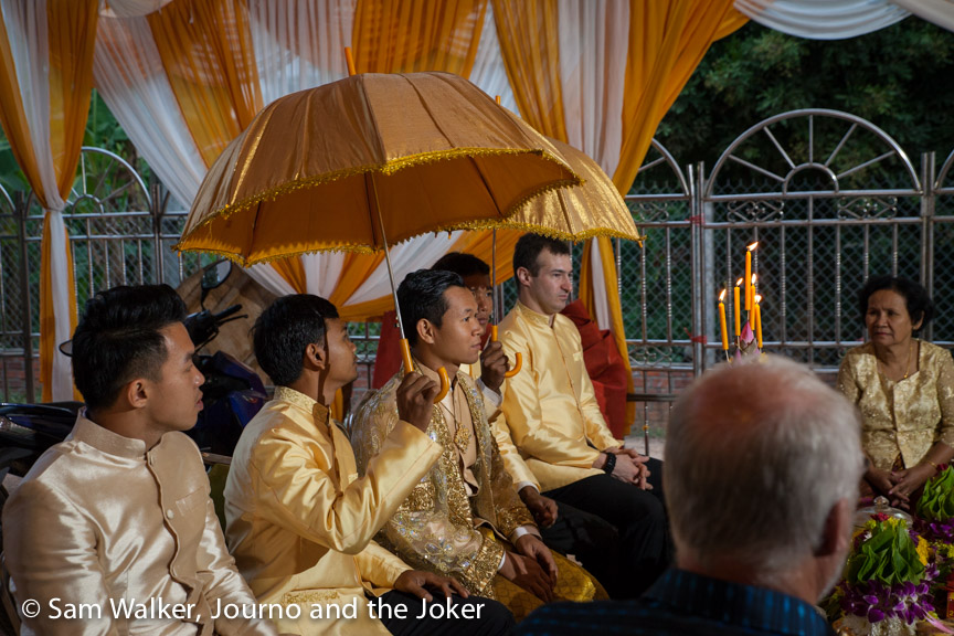 Cambodian wedding ceremony honouring the sunrise