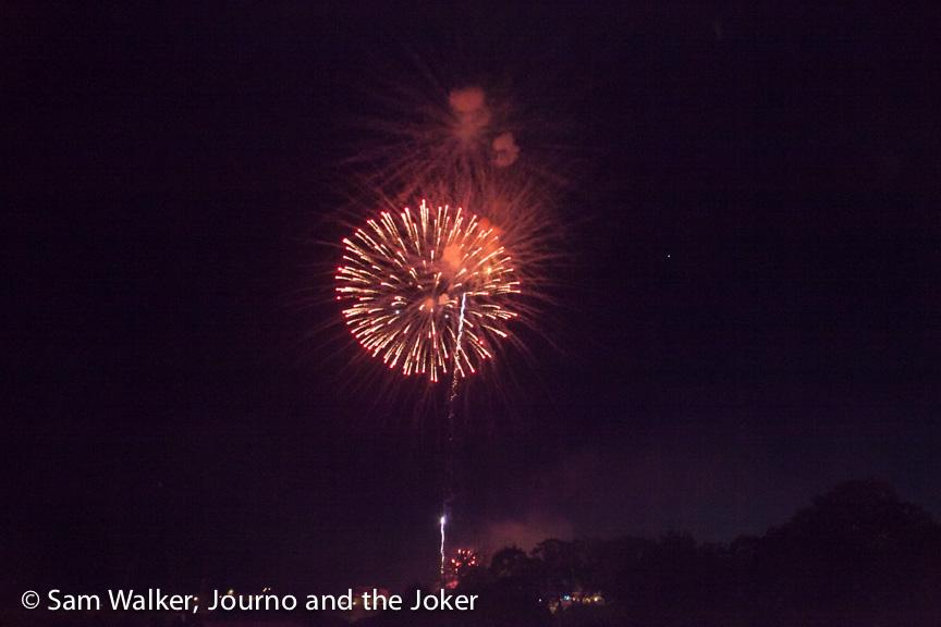 Fireworks over Siem Reap