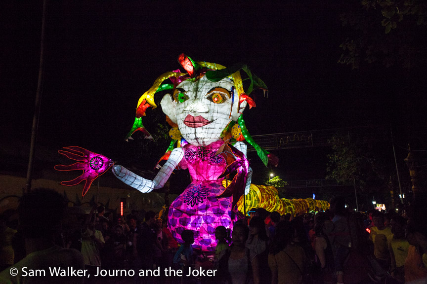 Giant Puppet Parade - one of the many events on the Cambodian calendar