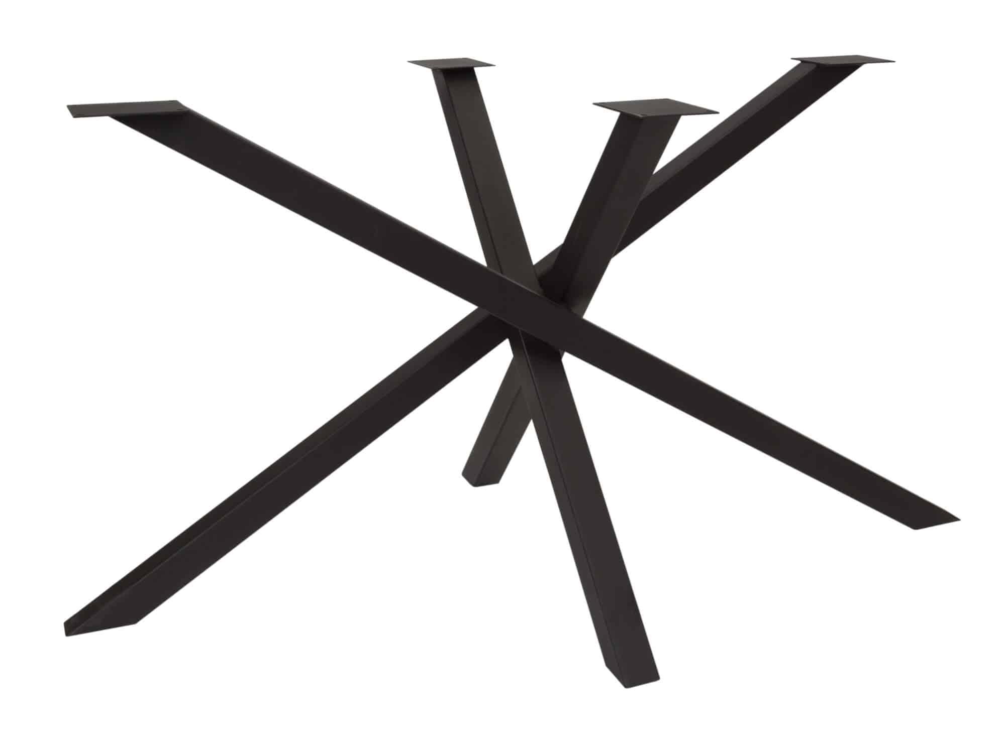 Elegante Spinpoot mat zwart - P3017