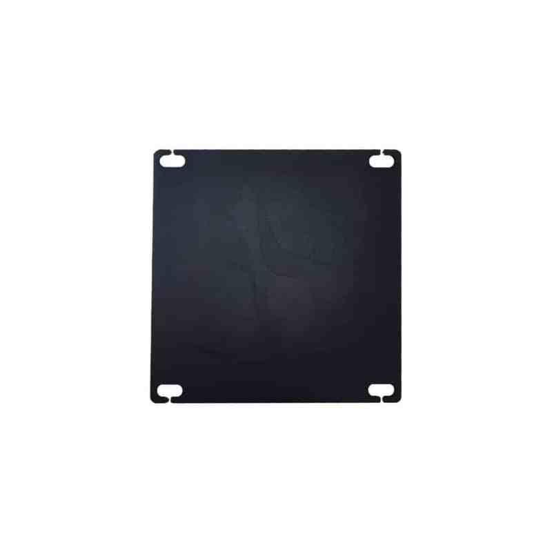 set 4 zwarte rechte tafelpoten 72 cm profiel 10 x 10