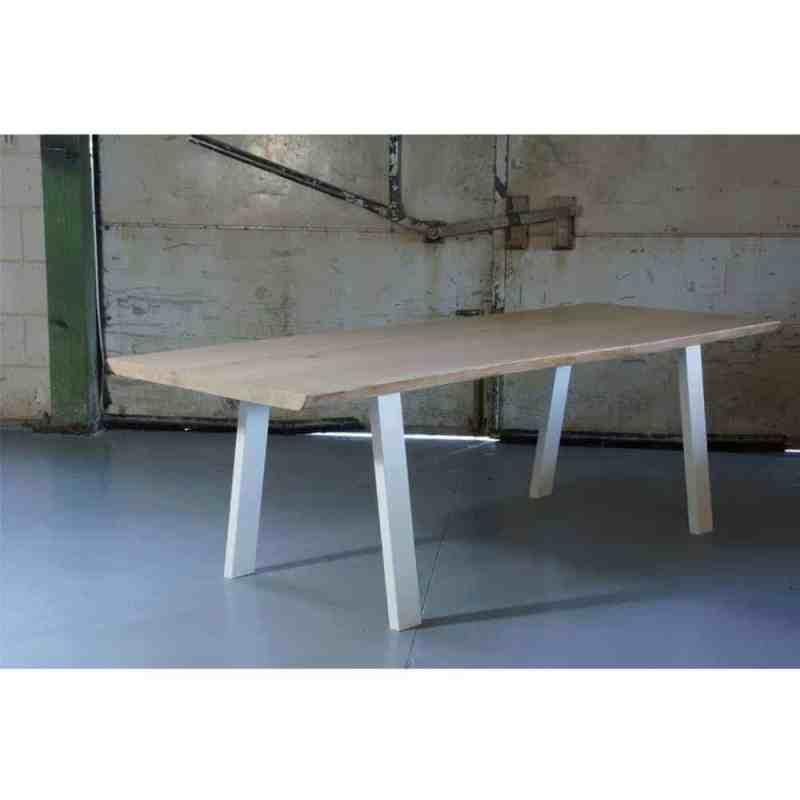 witte trapezium tafelpoot 72 cm
