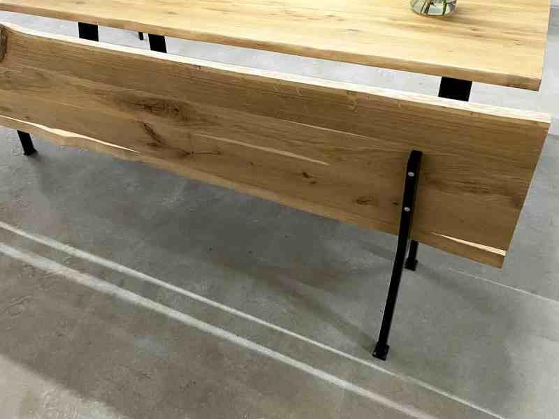 eiken houten bank