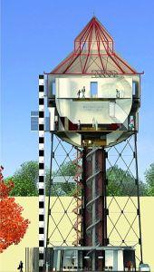 Watertoren plan doorsnede uitsnede