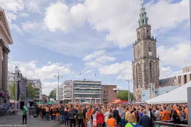 groningen-centrum-oranje wk voetbal-grote markt-1