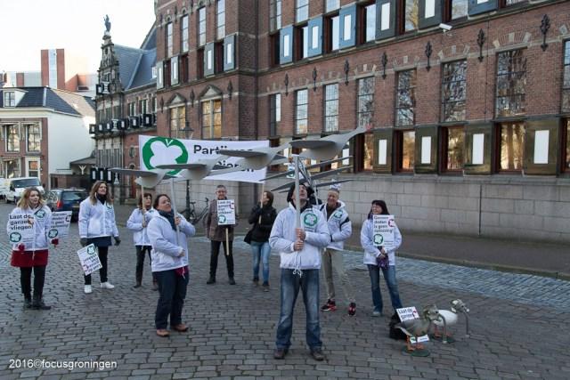 nederland 2016, groningen, centrum, laat ganzen niet stikken, martinikerkhof