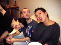 Miriam, Jonas, and Noora looking quite normal