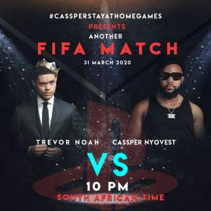 Cassper Nyovest Tackles Trevor Noah in FIFA Big Match