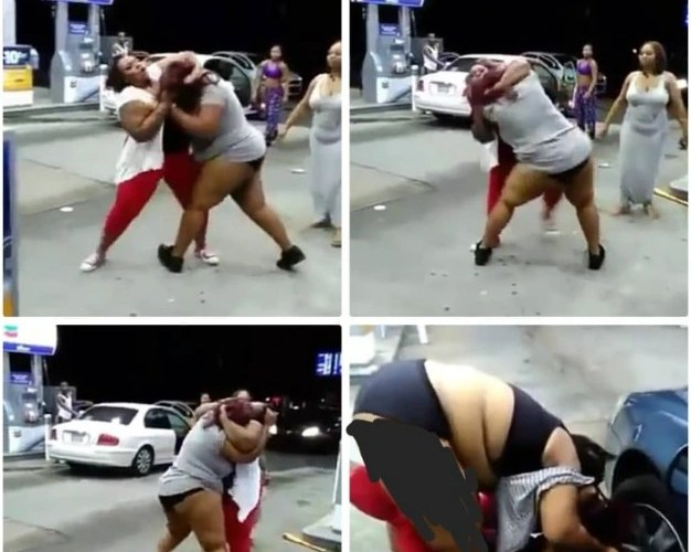 Watch: Two Chubby Ladies fight brutally in broad daylight