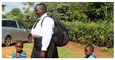 62 years old mother of Nine children went back to school, She is in grade 8