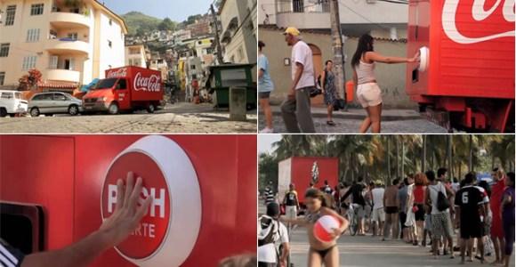 Ação da Coca-Cola leva felicidades para as pessoas