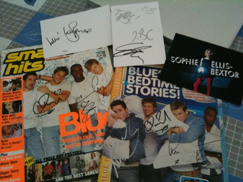 signed stuff to offload