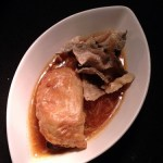 Empanadas with chilli crab meat sauce and cracking fish skin. The sauce is freaking delicious too!!