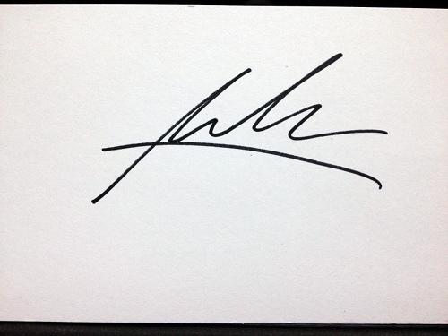 Maksim's autograph