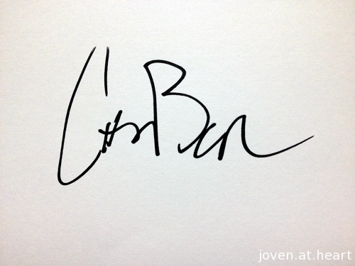 Christopher Bear Grizzly Bear autograph