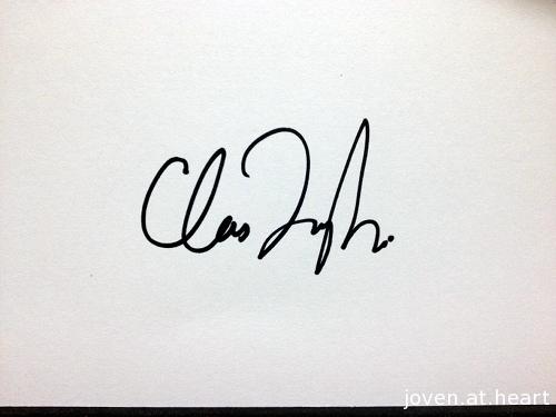 Chris Taylor Grizzly Bear autograph