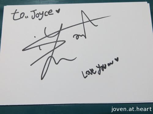 Siyoon A-Prince autograph