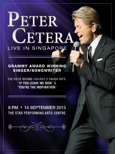 Peter Cetera - Live In Singapore - Event Flyer