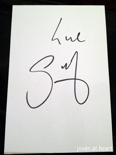 Gordon Ramsay autograph