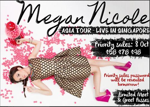 Megan Nicole Live in Singapore 2013