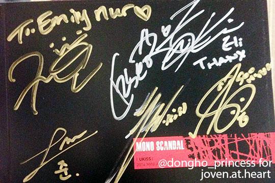 U-Kiss Mono Scandal autographed