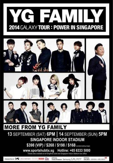 YG Family 2014 Galaxy Tour: Power in Singapore