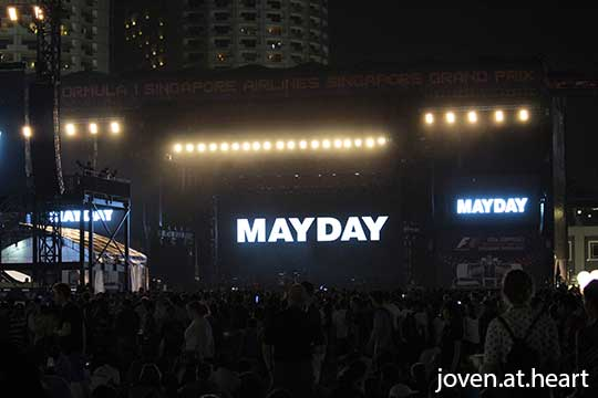 Mayday @ Formula 1 Singapore Airlines Singapore Grand Prix