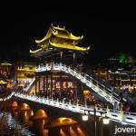 Fenghuang (Phoenix) Ancient City. Night view.
