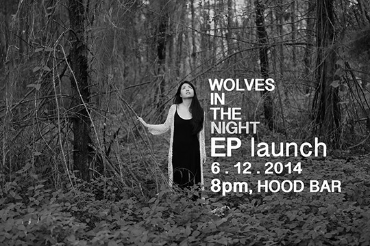 """Debra Khng """"Wolves in the night"""" EP Launch poster"""