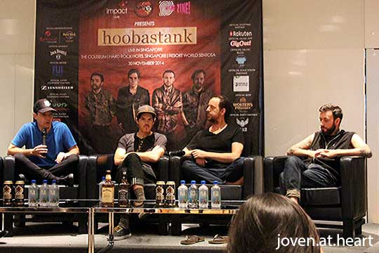 Hoobastank Press Conference, Singapore 2014