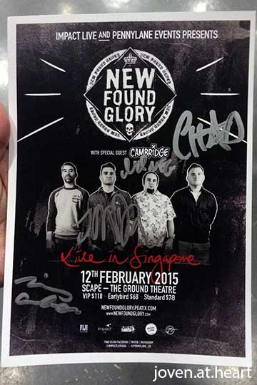 New Found Glory autograph