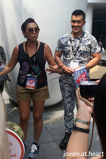 Irene Ang and Lieutenant Marcus