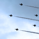 RSAF Black Knights aerial display, Singapore 50th National Day Parade, #SG50