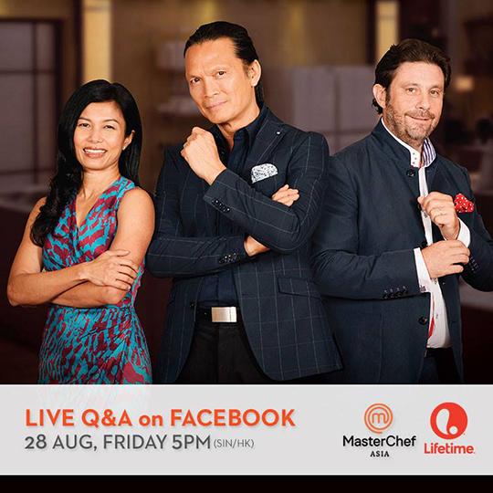 MasterChef Asia Judges Live Q&A on Facebook (© Lifetime Asia)