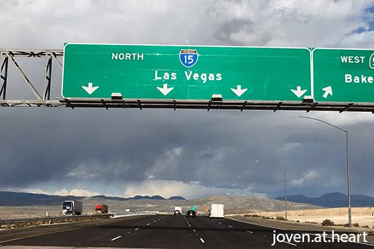 en route to Las Vegas