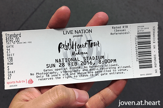 Madonna 'Rebel Heart Tour 2016' Singapore
