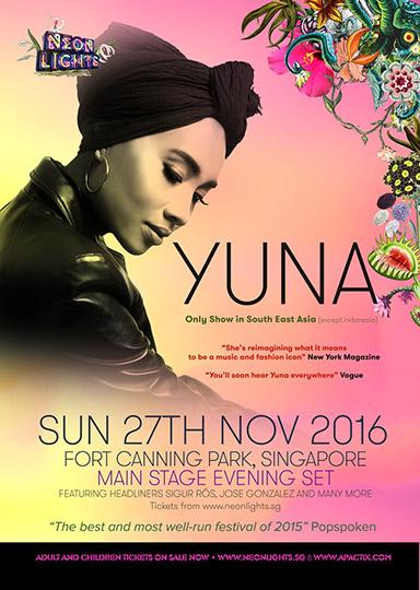 Neon Lights 2016 (SG) presents Yuna