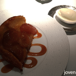Caramelised apple Tarte Tartin with Tahitian vanilla ice cream