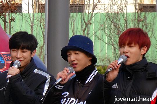 Jinyoung, Baro & CNU @ B1A4 Mini Fan Meeting
