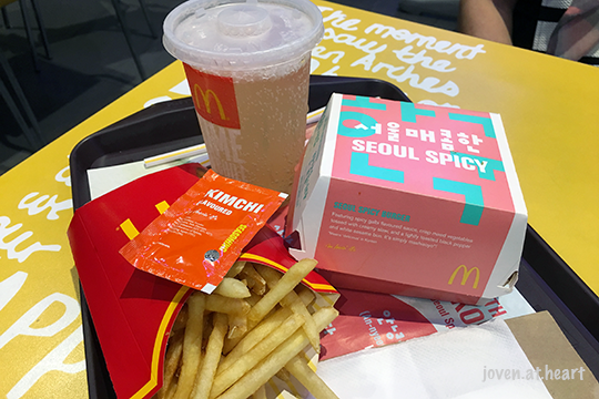 McDonald's Seoul Spicy Burger