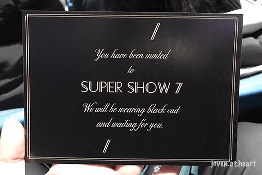 Super Show 7 invitation