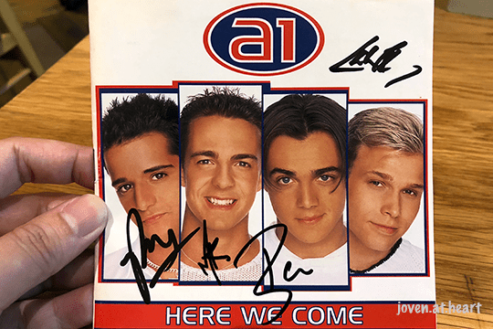 """a1 autographed """"Here We Come"""" album"""