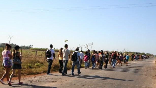 Fueron casi 20 Km de caminata bajo el lindo sol de Cuba