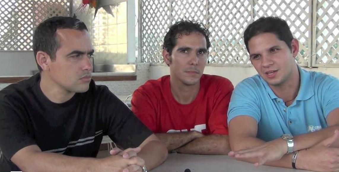 Osmany Sánchez Roque, Roberto González Peralo y Harold Cárdenas. Foto: Tracey Eaton