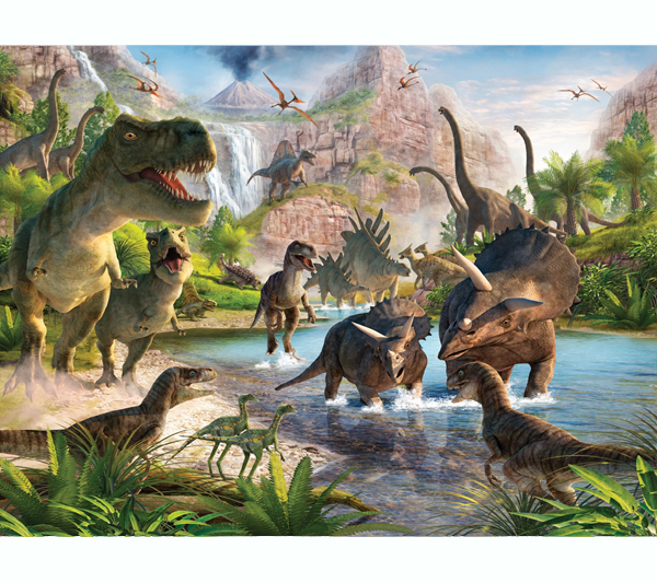 Mural de dinosaurios n WEB