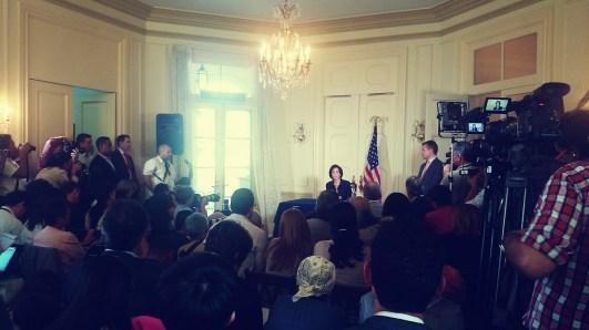 Conferencia de prensa de Roberta Jacobson