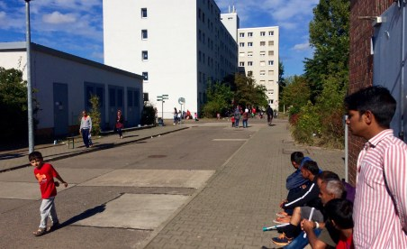 Centro de refugiados en berlín