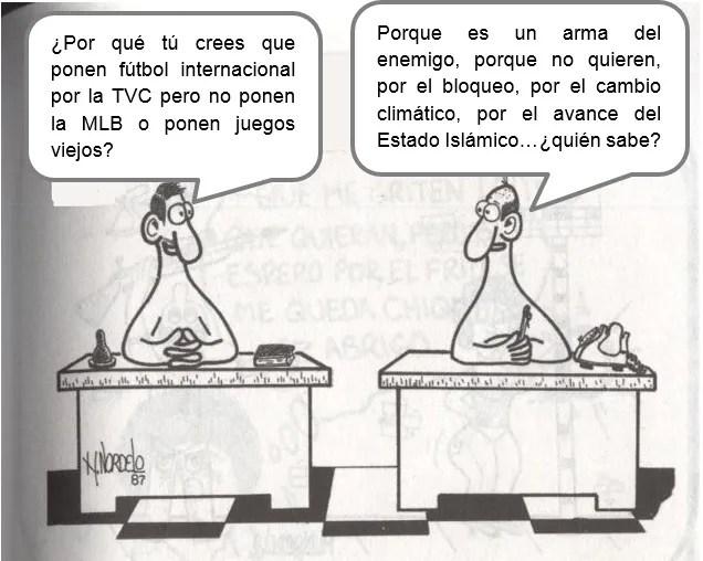 Basado en una caricatura del Héroe de la República de Cuba, Gerardo Hernández Nordelo